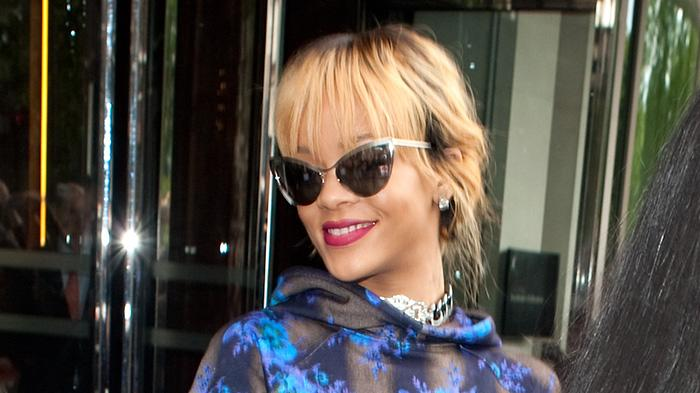Rihanna looking blue in London