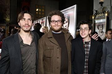 Justin Long , Seth Rogen and Christopher Mintz-Plasse at the Los Angeles premiere of Columbia Pictures' Walk Hard: The Dewey Cox Story