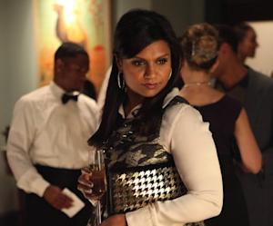 Exclusive Mindy Project Hot Shots: B.J. Novak and Mindy Kaling Reignite Their Office Romance