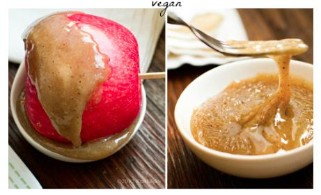 3-Ingredient Vegan Caramel Apples