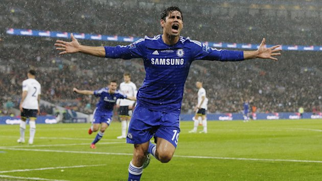 Chelsea's Diego Costa celebrates his sides second goal (Reuters)