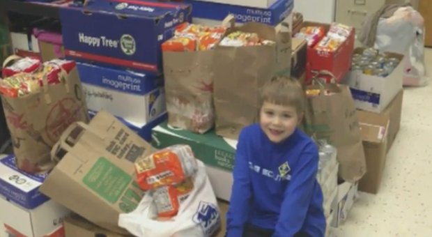 Boy dreams of ending child hunger