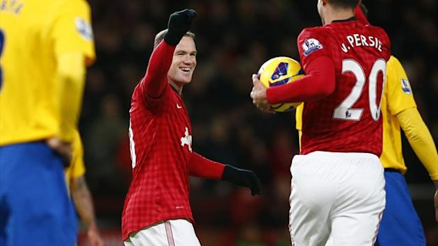 Wayne Rooney celebrates scoring against Southampton (Reuters)