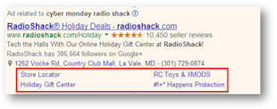 Holiday PPC Planning: Three Advanced Strategies for AdWords image holiday ppc sitelinks examples