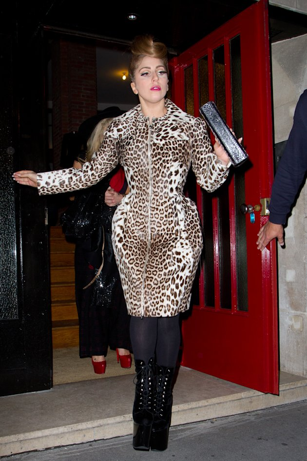 YAY OR NAY: Lady Gaga's structured animal print coat