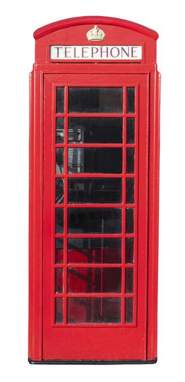 red phone box converted into the world 39 s smallest internet cafe. Black Bedroom Furniture Sets. Home Design Ideas
