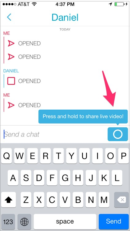 how to use snapchat s new instant messaging and video features. Black Bedroom Furniture Sets. Home Design Ideas