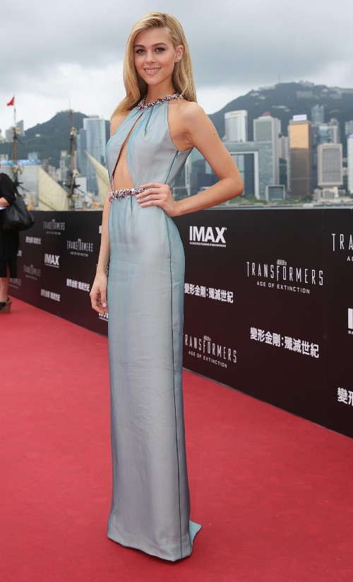 'Transformers: Age of Extinction' Star Dazzles on the Hong Kong Red Carpet
