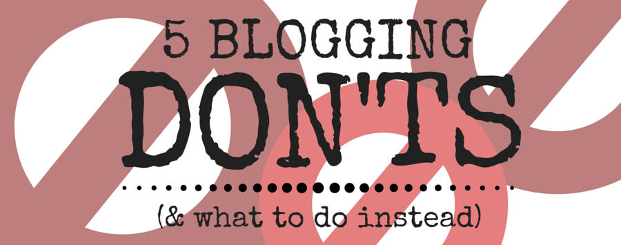 5 Blogging Don