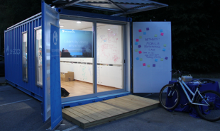 Converted shipping container acts as a portable makerspace