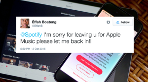 React: Spotify Wounds Apple Music After Free Trial, But The War's Not Over