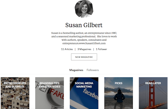 Make content sharing easier - Flipboard SusanGilbert.com