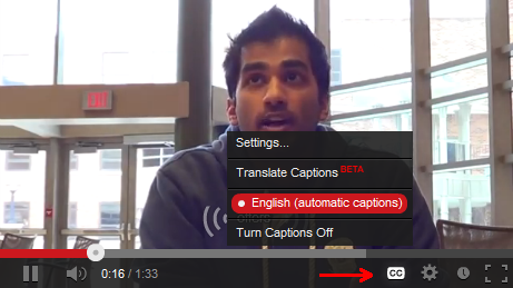 YouTube Caption Features