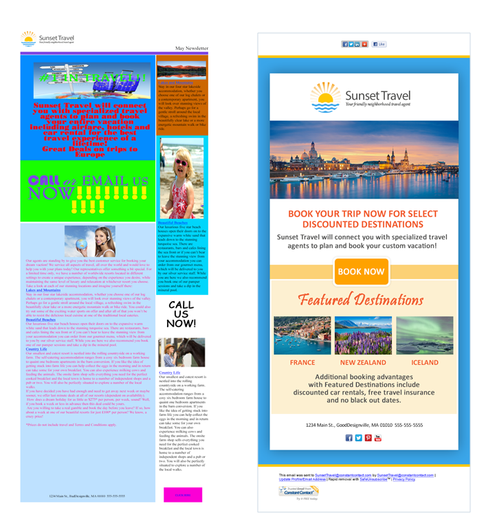 Email design colors and fonts image 2