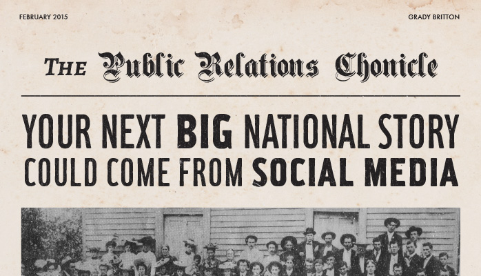 Your next national story could come from social media PR