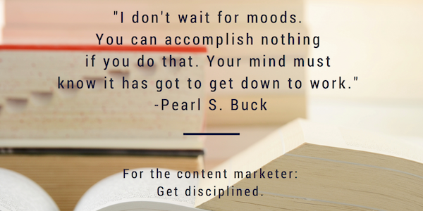 pearl buck content advice