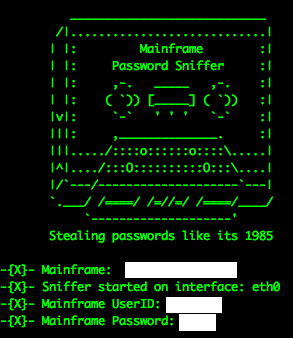 MFSniffer, a utility by Soldier of Fortran, designed to demonstrate the ease in which unencrypted mainframe credentials can be captured off of the network.