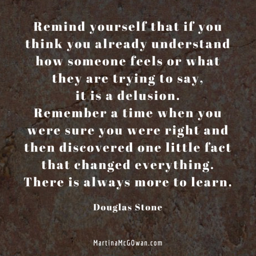 There is always more to learn douglas stone