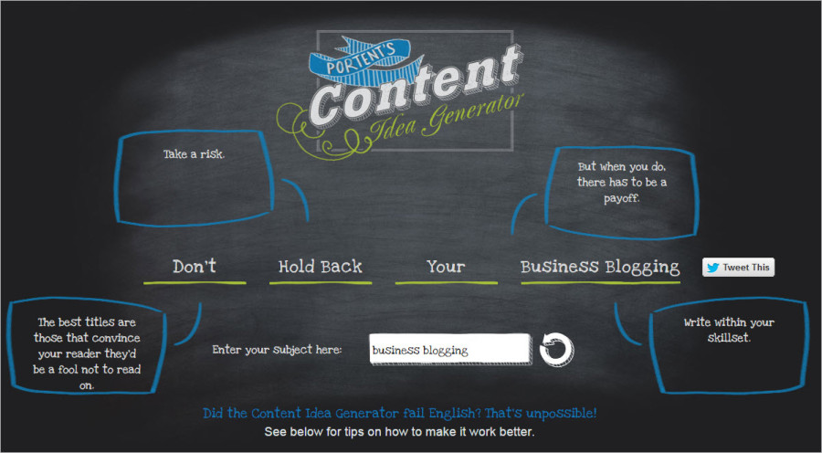 The top 10 list of business blogging tools for Portent headlines