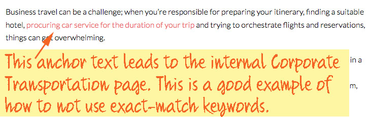 greater anchor text example