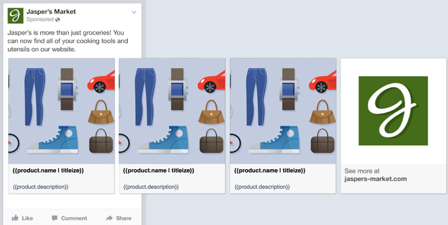 Facebook dynamic product ad