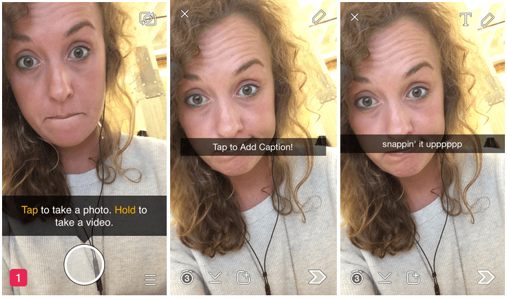 Snapchat first-time user onboarding experience