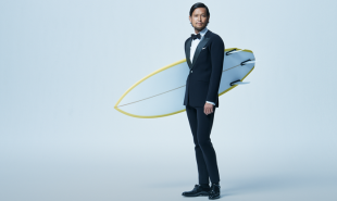 Surfing tux puts the suit back in wetsuit