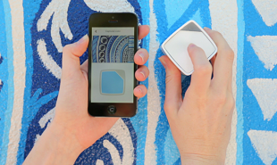 Handheld device samples real world colors to use in digital design