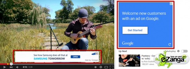 YouTube In-Display Ad
