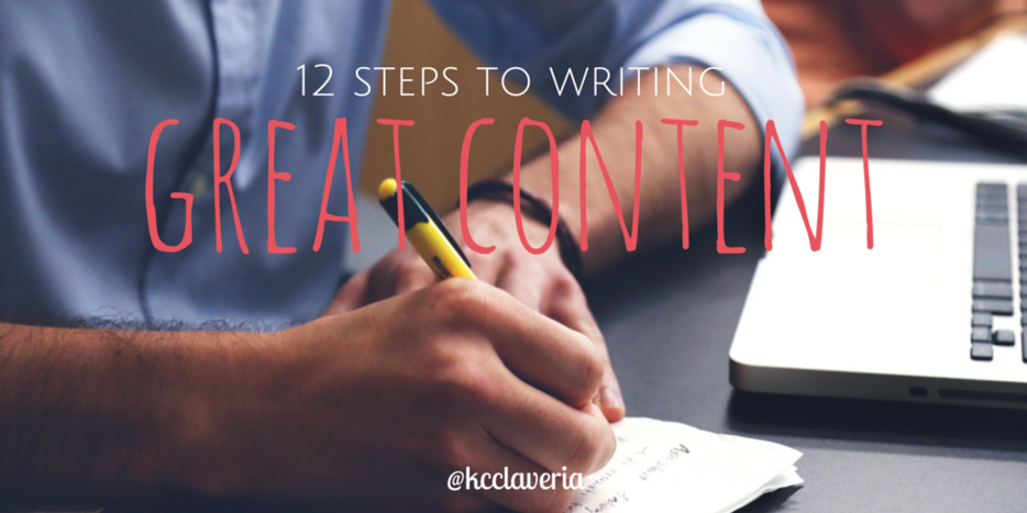 Process for writing great content