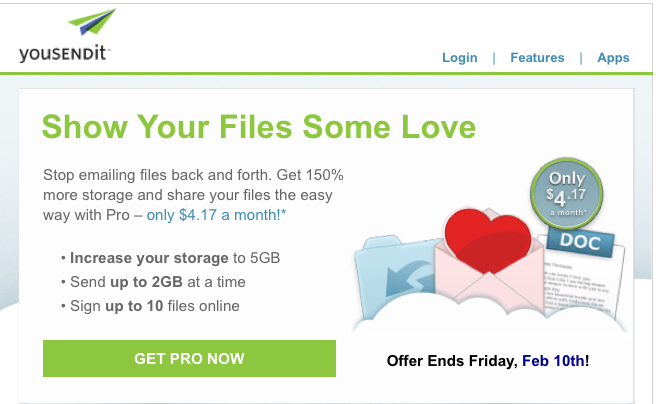 Emails We Love, Just in Time for Valentine