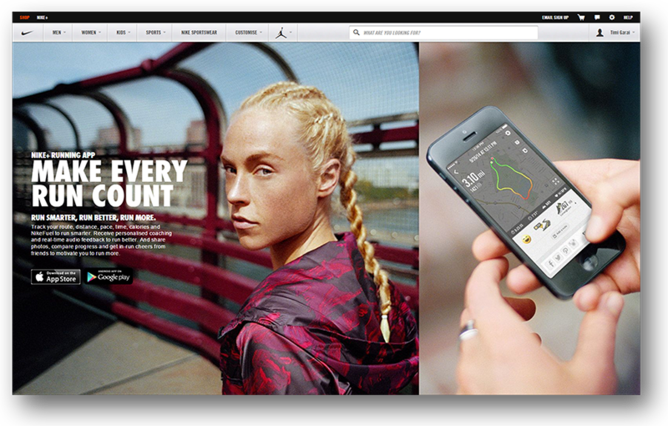 Nike allows people to download a Nike+ mobile app to keep track on their running habits. It also offers a fun coaching programme that sends them running tips and reminders. What a smart way to engage customers.