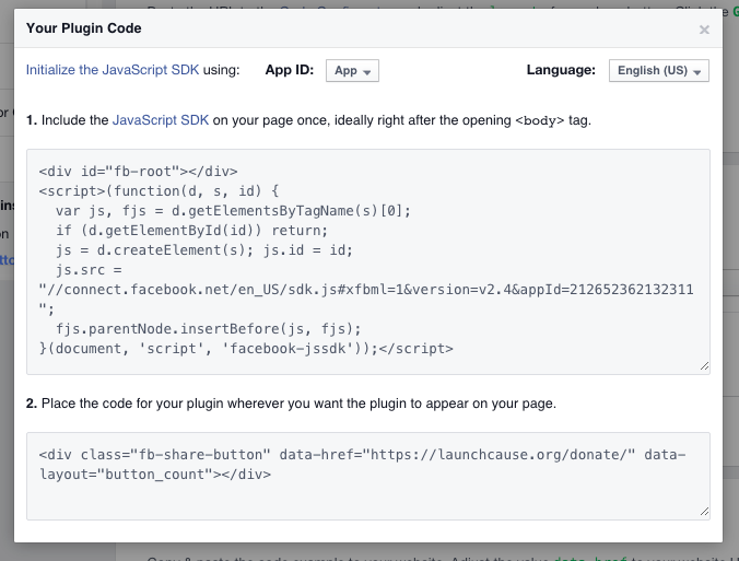 facebook-share-creator-code