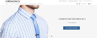 Ownonly is a site that allows users to create custom designed suits, from the comfort of their homes.