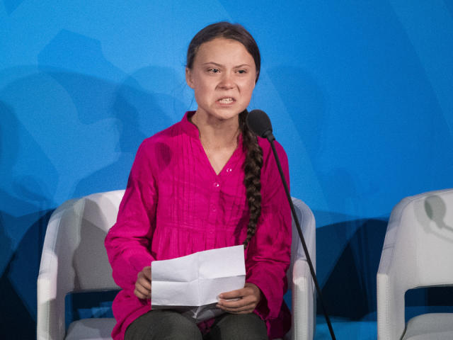 Greta Thunberg während des UN-Klimagifels in New York (Bild: imago images/TT)