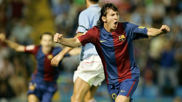 维哥拉西甲200607的莱昂内尔·梅西·巴塞罗那凯尔特人