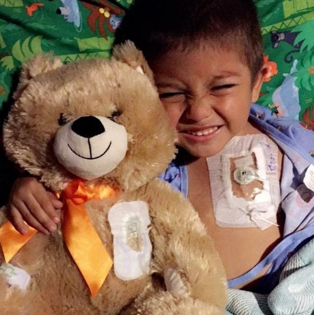 The Berrones' 5-year-old son, Jayden, is undergoing chemotherapy for leukemia.