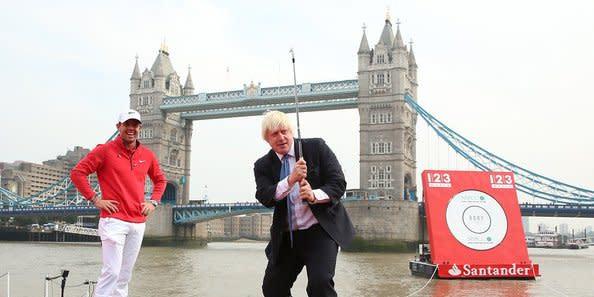 Früh übt sich: Boris Johnson hatte schon als Bürgermeister von London einen Golfschläger in der Hand.