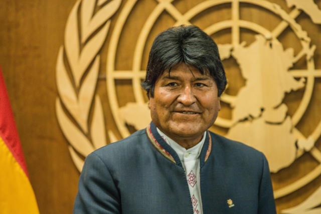 ***照片文件***美国纽约-23.09.2019:玻利维亚总统埃沃·莫拉莱斯(Evo Morales)在纽约联合国总部。 (照片:Vanessa Carvalho /巴西摄影出版社/ Folhapress)