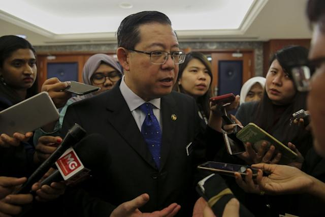 Lim declared the GST 'dead' after Parliament passed the Bills to implement the SST. ― Picture by Yusof Mat Isa