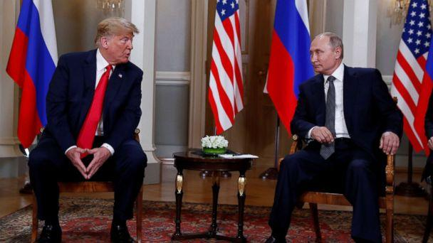 PHOTO: President Donald Trump meets with Russia's President Vladimir Putin in Helsinki, Finland, July 16, 2018. (Kevin Lamarque/Reuters)