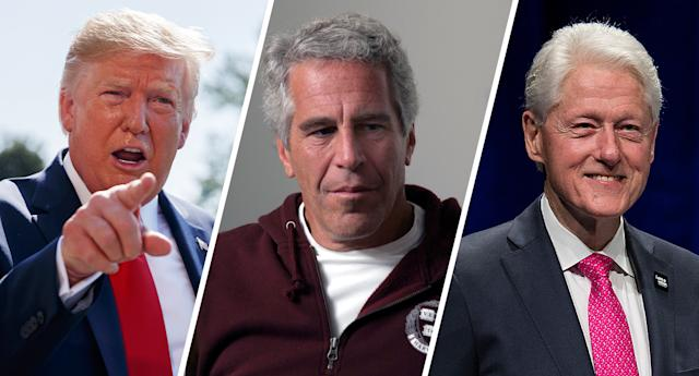 President Donald Trump, Jeffrey Epstein, former President Bill Clinton. (Photos: Evan Vucci/AP, Rick Friedman Photography/Corbis via Getty Images, Andrew Chin/Getty Images)