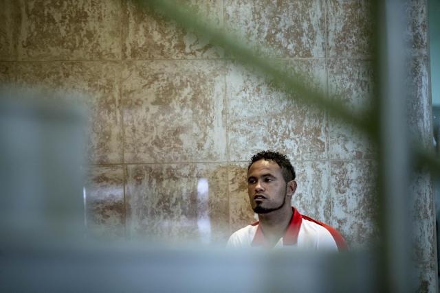 ***ARQUIVO***VARGINHA, MG, 15.03.2017: O goleiro Bruno concede entrevista no hotel onde o Boa Esporte Clube está concentrado, em Varginha (MG). (Foto: Adriano Vizoni/Folhapress)