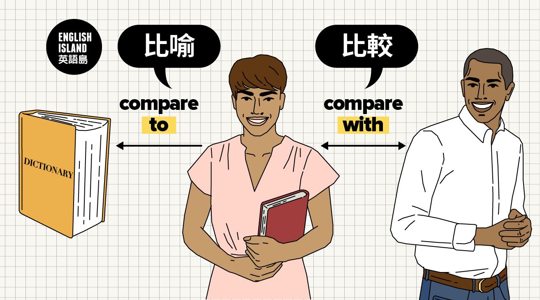 【英語小測驗】Compare with vs Compare to:「比較」和「比喻」