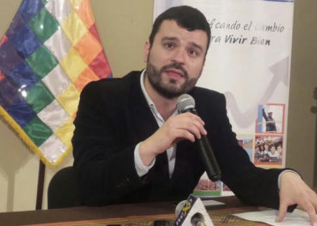 José Manuel Canelas, ministro de comunicación de Bolivia (Foto: Wikipedia)