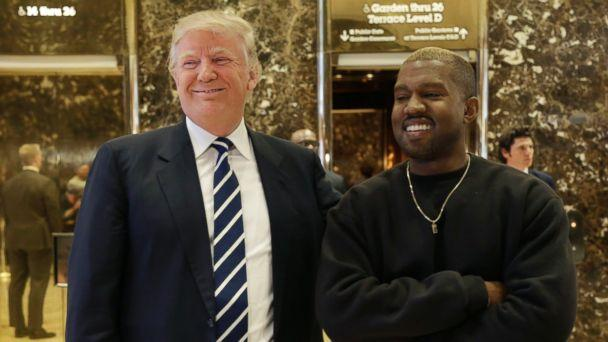 PHOTO: President-elect Donald Trump and Kanye West pose for a picture in the lobby of Trump Tower in New York, Dec. 13, 2016. (Seth Wenig/AP Photo)