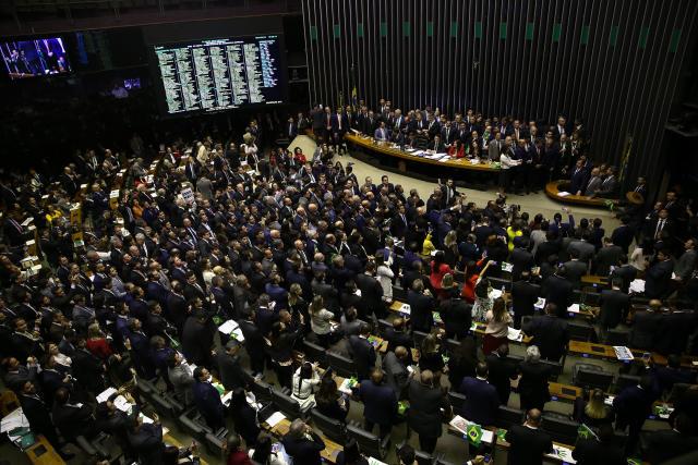 BRASÍLIA, DF, 10.07.2019: Maia discursa na tribuna. Plenário da Câmara dos Deputados segue na votação da reforma da Previdência, sob o comando do presidente da Casa, deputado Rodrigo Maia (DEM-RJ). (Foto: Pedro Ladeira/Folhapress)