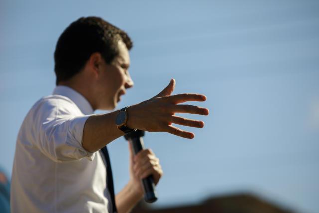 Buttigieg. (Photo: Jeremy Hogan/SOPA Images/LightRocket via Getty Images)
