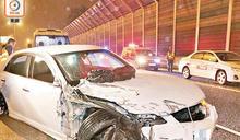 吐露港公路14日3亡魂 頭顱磨牆百米 跟車工慘死