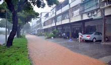 雨彈轟台東30小時 綠色隧道變黃河(3) (圖)